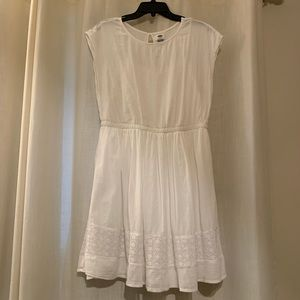 Old Navy White Lace Trim Dress